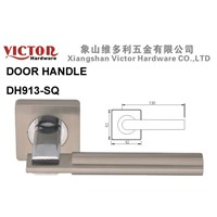 Zinc Alloy Door Handle on square rose