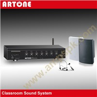 2 Channel Stereo Wireless Microphone Classroom Sound Amplifier T-206