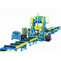 H-beam automatic assembly-welding-straightening machine