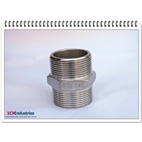 ISO4144 Standard 150lb stainless steel Hex Nipple