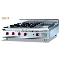High Quality gas range with 4 burner & Griddle BY-GH996-1