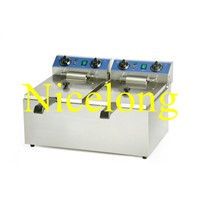 EF-132 13+13L stainless steel double tanks fryer
