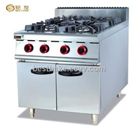 Free standing Gas 4 burner Range with cabinet BY-GH987