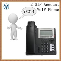 YX214 2 Sip Account VoIP Phone, Wired VoIP Phone, Telecommunicaiton VoIP Phone Support SIP & H.323