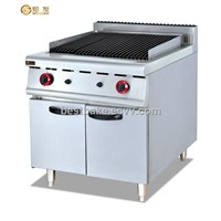 commercial restaurant gas lava rock grill with cabinet GB-989