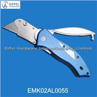 Hot sale stainless steel cutter knife with blade holder on handle(EMK02AL0055)