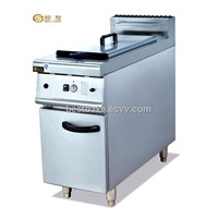 1-Tank Gas chips Fryer(1-basket) with cabinet BY-GF975