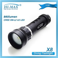 Hi-max professional underwater video light x8
