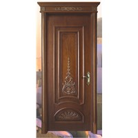 HDF Molded Door skin With Paper Teak Veneer
