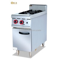Stainless steel gas cooking range With 2-Burner and cabinet(BY-GH977)