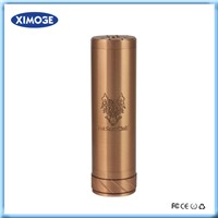 Big vapor and battery capacity mechanical mod 26650 fat snow wolf RDA atomizer hot sale