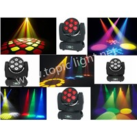 Smart Design120W 7pcs 12W 4in1 RGBW led moving head stage  light, master-slave and sound activated