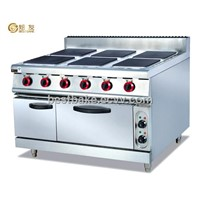 Free standing electric range with 6 cookers and electric oven BY-EH897A
