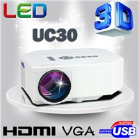 UC30 Mini Led portable 3D Projector HDMI VGA AV video