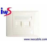 wall outlet rj45 faceplate