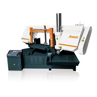 Turn Angle Horizontal automatic wood band saw machine