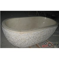 Beige Marble Bathtub,Galala Marble Bathtub,Stone Bathtub