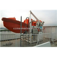 life raft and rescue boat davit