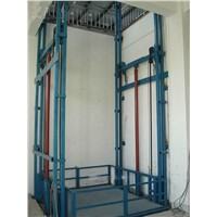 Electric Guide Rail Chain Cargo Lift Tables
