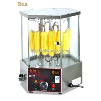 Stainless Steel Base with 6 Glass Doors Electric Corn Roaster/Revolve Corn Broiler 16 Pcs/Time