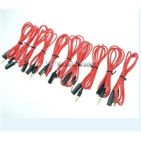 10 x Red 3.5mm 4 Pole Male to Female headphone earphone Extension Cable Audio Adapter