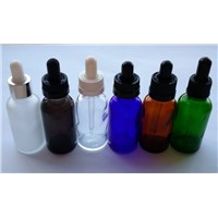 Hot Sale Glass Color Ecig Bottle 30ml Glass Bottle Dropper Pure Glass White And Black Cap Bottle