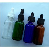 30ML Colorful  Easy To Refill The E-liquid Glass Bottle Child Security Cap Glass Dropper Oil  Bottle