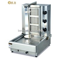 LPG gas automatic shawarma kebab grill machine with flameout protection BY-GB800