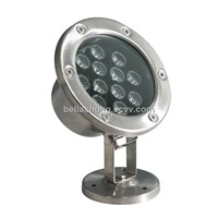 Professional IP68 DC24V 1080lm 12w LED underwater light
