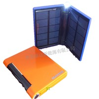 portable solar mobile charger with USB and lithium battery