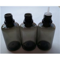 30ML Plastic PET Black Empty Bottle For E-liquid Tamperproof And Childproof Cap Bottle For E-cig