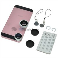 3in1 Fisheye Lens + Wide Angle Micro Lens Camera Kit Set for iPhone 4 4S 5
