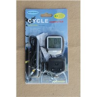 bicycle Cycling Bike Bicycle Wired  Black  Cycle Computer Odometer Speedometer Waterproof
