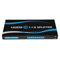 1x 8 HDMI Splitter, 3D TV Supported 1080P hdmi splitter 1 in 8 out