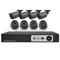 Hot Selling!!! 8CH 1.0Megapixels AHD Security Camera Kit System/HD-AHD DVR Security Camera System
