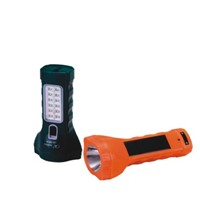 JA-1914 dual-use solar led flashlight with side light
