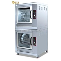 Stainless steel Double Layers Electric Chicken Rotisserie BY-EB202