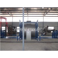 2 arms shuttle rotomolding machine