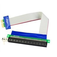 PCIE 1X TO 16X Extender Flexiable Cable Riser