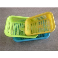 Houseware Fruit Vegetable plastic Sieve /plastic rectangle vegetable / fruit sieve