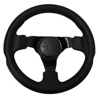 Steering Wheel with Leather Cover Aluminum Frame Car Tunning Accessories Racing Steering Wheels