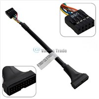 USB3.0 19 Pin Male to USB2.0 9Pin Male Adapter Cable for USB 2.0 Motherboard