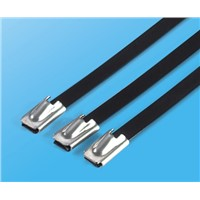 2015 Hot stainless steel cable tie coated PVC