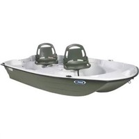 Pelican Predator 103 Fishing Boat in White / Khaki
