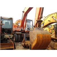 used hitachi ex160wd wheel excavator