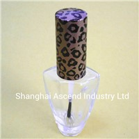 Glass nail Polish Bottle with cap and brush made in China