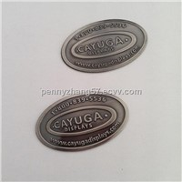 handbag metal tags logo
