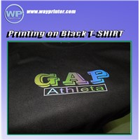 DTG Flatbed Printer A3 Size Print on Black T- Shirt