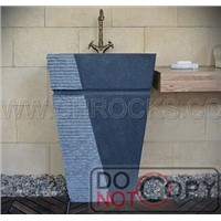 G654 Granite Pedestal Sink,Dark Grey Granite Pedestal Sink,Pangdang Grey Pedestal Sink