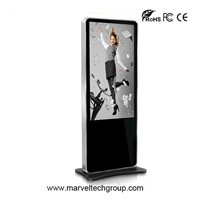 42 inch floor stand lcd touch screen advertising display media